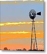 Digital Windmill-horizontal Metal Print