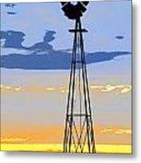 Digital Windmill-vertical Metal Print