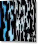 Digital Zebra Coat Metal Print