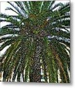 Digitized Cali Palm  Metal Print