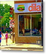 Dilallo Notre Dame Ouest And Charlevoix Sunny Street Montreal Urban City Scene Carole Spandau Metal Print