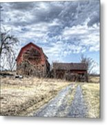 Dilapidated Barn Metal Print
