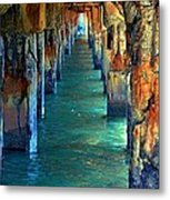 Dilapidated Dock Metal Print