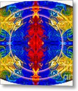 Dimensional Eyesight Abstract Living Artwork By Omaste Witkowski Metal Print