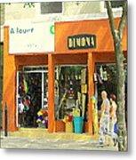 Dimona Latin Quarter Romantic Morning Summer Stroll Pretty Streets Montreal City Scene C Spandau Metal Print