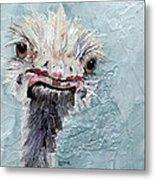 Dimples - An Ostrich Metal Print