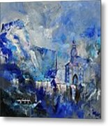 Dinant In Blue Metal Print