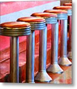 Diner - V1 Metal Print by Wingsdomain Art and Photography