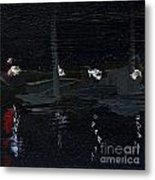 Dingle Quay By Night Detail 5 On The Wild Atlantic Way Of Western Ireland Metal Print