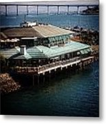 Dining On The Bay Metal Print