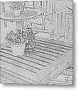 Dining On The Street Metal Print
