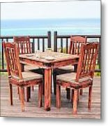 Dining Table Metal Print by Tom Gowanlock