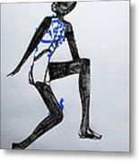 Dinka Silhouette - South Sudan Metal Print