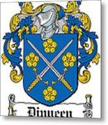 Dinneen Coat Of Arms Irish Metal Print