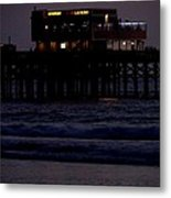 Dinner At The Pier Metal Print