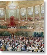 Dinner In The Salle Des Spectacles At Versailles Metal Print