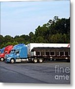 Dinner Time For Truckers Metal Print