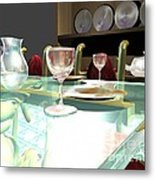 Dinning Table Metal Print