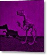 Dino Dark Purple... Barney Metal Print