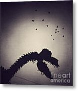 Dino In The City Metal Print