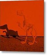 Dino Orange Metal Print