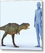 Dinosaur Aucasaurus Metal Print