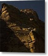 Dinosaur Cliffs In Moonlight Metal Print