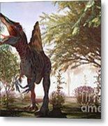 Dinosaur Spinosaurus Metal Print