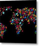 Dinosaurs Map Of The World   Metal Print by Mark Ashkenazi