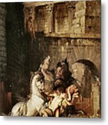 Diomedes Devoured By His Horses Metal Print