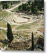 Dionysus Amphitheater Metal Print