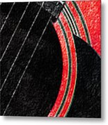 Diptych Wall Art - Macro - Red Section 2 Of 2 - Giants Colors Music - Abstract Metal Print