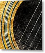 Diptych Wall Art - Macro - Gold Section 1 Of 2 - Vikings Colors - Music - Abstract Metal Print
