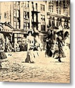 Directoire Gown - Philadelphia Mummers 1909 Metal Print