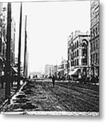 Downtown Dirt Spokane C. 1895 Metal Print