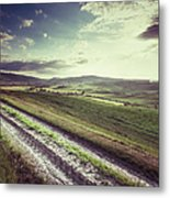 Dirt Track In Tuscany Metal Print