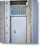 Dirty Metal Door Metal Print