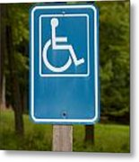 Disabled Parking Sign Metal Print
