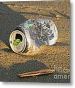 Discarded Energy Drink Can Metal Print
