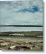 Low Tide Along The Discovery Passage Metal Print