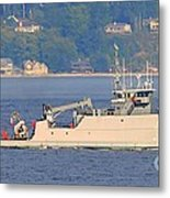 Discovery Bay Military Ops Ship Metal Print