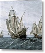 Discovery Of America 1492. The Caravels Metal Print