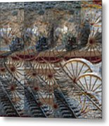 Discovery Of The Wheel Metal Print