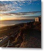 Discovery Park Lighthouse Sunset Metal Print