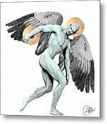 Discus Thrower Angel Metal Print