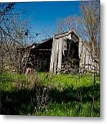 Disintegrating Barn Streetman Texas Metal Print