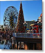 Disney California Adventure Christmas Metal Print