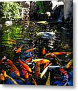 Disney Epcot Japanese Koi Pond Metal Print