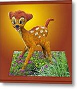 Disney Floral 03 Bambi Metal Print