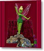 Disney Floral Tinker Bell 02 Metal Print